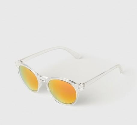 Selected Homme, Sonnenbrille, Herren, verspiegelt, transparent, beckham
